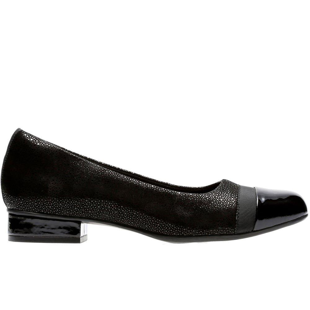 df817a9d00 Clarks Keesha Rosa Womens Narrow Casual Shoes 6.5 Black Interest:  Amazon.co.uk: Shoes & Bags