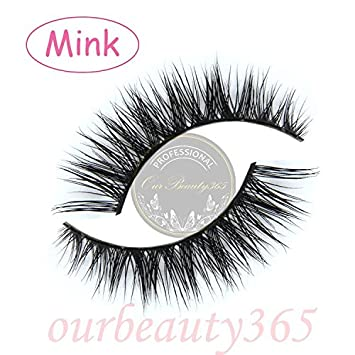 a73059b9901 Amazon.com : MY-008 Handmade luxurious 100% Real Mink 3D Natural Cross  Winged False eyelashes fake eye lashes makeup by Unbranded : Beauty