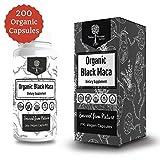 USDA Organic Vegan Gelatinized Black Maca Root- 3,000mg 3x concentrate per Serve-200 Vegan