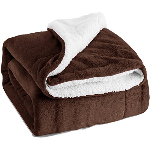 - Bedsure Sherpa Blanket Brown Twin Size 60x80 Bedding Fleece Reversible Blanket for Bed and Couch