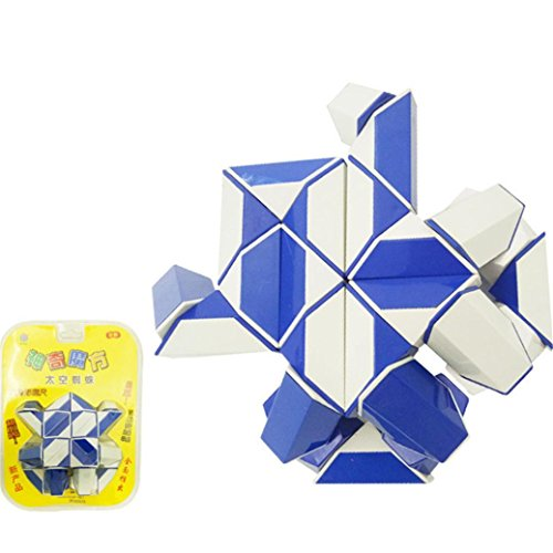 Sinwo Puzzle Children Toys Development Intellectual Magic Square Variety DIY Toys Educational Toy (Blue)