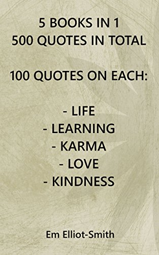 5 Books In 1 500 Quotes In Total 100 Quotes On Each Life