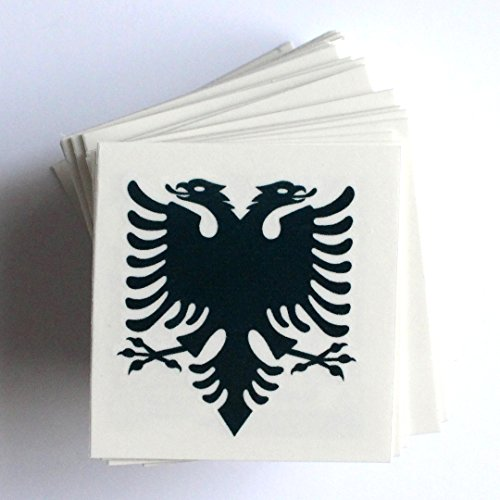 Alb Trend Albania - Albanian Flag Eagle Temporary Tattoo - 1 Lot (6 pcs)