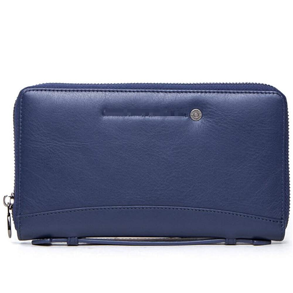 Fathers Day leather mens wallet fashion multi-function business bag