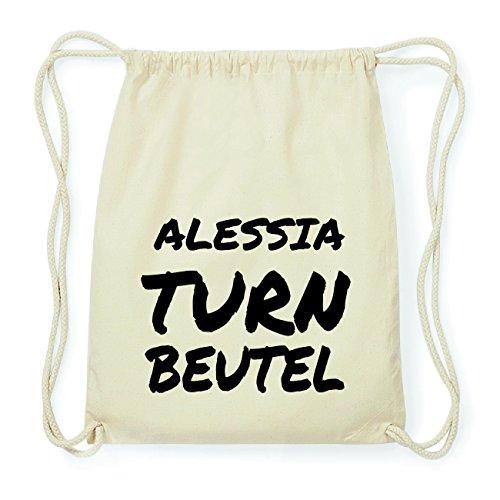 JOllify ALESSIA Hipster Turnbeutel Tasche Rucksack aus Baumwolle - Farbe: natur Design: Turnbeutel