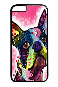 iphone 6 plus Case,Boston Terrier 02 PC Hard Plastic Case for iphone 6 plus 5.5 inch Black by Maris's Diary