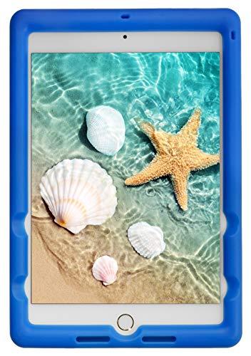 BobjGear Bobj Rugged Tablet Case for iPad Mini 5 (2019) Kid Friendly (Batfish Blue)