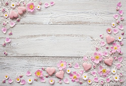 Yeele 6x4ft Petal Backdrop Retro Wood Board Sweet Daisy Flowers Pictures Photography Background Room Interior Decoration Girl Boy Adults Portraits Photo Shoot Vinyl Wallpaper Studio Props ()