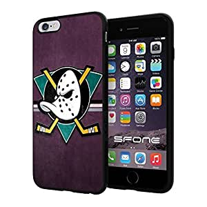 Anaheim Ducks, #1381 iphone 6 4.7 Case Protection Scratch Proof Soft Case Cover Protector
