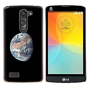 YiPhone /// Prima de resorte delgada de la cubierta del caso de Shell Armor - Universo Espacio Planeta Tierra Comsmos Sun - LG L Prime D337 / L Bello D337
