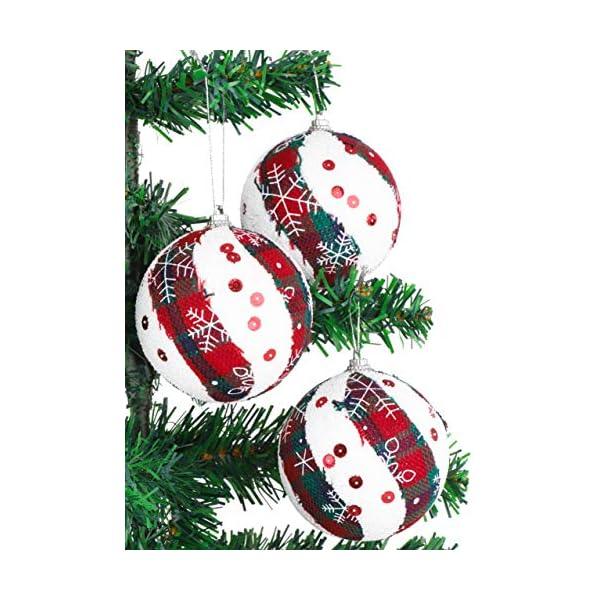 Christmas Concepts® Confezione da 6 Palline di Natale in Design Scozzese - Decorazioni Natalizie di Lusso (Fiocco di Neve) 2 spesavip