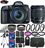 Canon EOS 7D Mark II 20.2MP CMOS Digital SLR Camera & EF-S 18-55mm f/3.5-5.6 IS STM Lens with 48GB in SDHC Memory & Accessory Bundle (19 Items) - International Version (No Warranty)