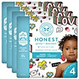 The Honest Company Baby Diapers with Trueabsorb Technology, Forever Yours, Size 4, 92 Count