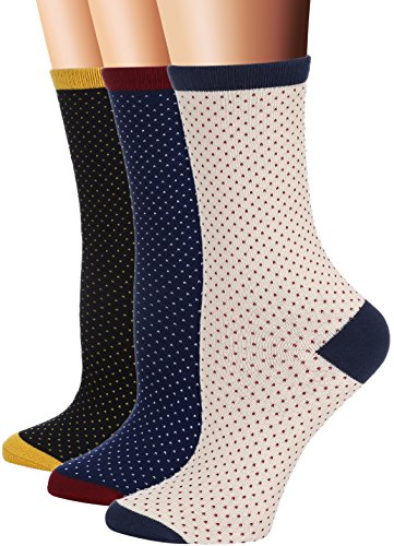 Flora Fred Womens 3 Pair Pack Vintage Arrow Cotton Crew Socks  Shoe  5 9