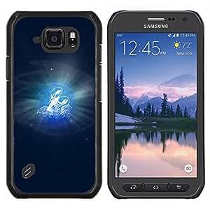Caucho caso de Shell duro de la cubierta de accesorios de protección BY RAYDREAMMM - Samsung Galaxy S6Active Active G890A - Cáncer Signo del Zodiaco