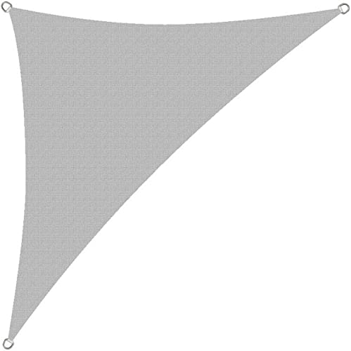 Alion Home HDPE UV Block Sun Shade Sail Permeable Canopy – Triangle – Custom 185GSM 8 x 8 x 11 , Smoke Tan