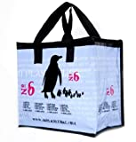 4Rplanetbag **5-PACK** Penguin Large Reusable Insulated Grocery Tote. Zipper improved!