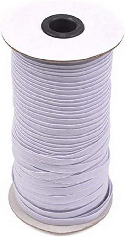Oinna 3mm Cord/ón el/ástico cinta el/ástica Cord/ón del carrete Cintas el/ásticas para costura y trabajo manual Creative DIY Clothes blanco