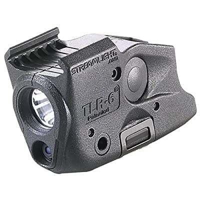 Streamlight TLR-6 Tactical Pistol Mount Flashlight 100 Lumen Only for Glock Railed Hand Guns, Black