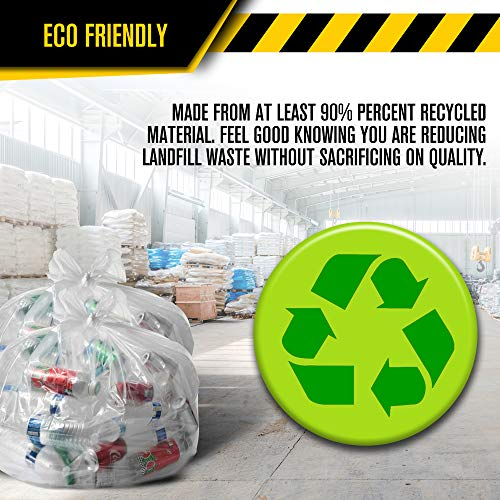 a5e4d704694 Clear Recycling Bags by Ultrasac - Heavy Duty 45 Gallon Garbage Bags (Huge  100 Pack