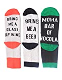 Women's Novelty Funky Cotton Socks Gifts Slipper Socks If You Can Read This Please Bring Me Some Wine Coffee Beer