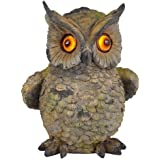 Moonrays 91257 Solar Light Hand Painted Polyresin Owl with LED Blinking Eyes by Moonrays