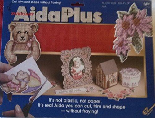 Zweigart, Aida Plus, 14 Count Aida Size: 9' X 12' (Red) 14 Count Aida Size: 9 X 12 (Red) EZ Crafts 4716