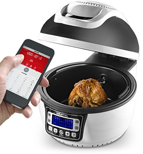Gourmia GTA2800 WiFi Air Fryer - Multi Function Halogen Powered Rotating Rotisserie Grill & Electric Oven, 20 Cooking Functions, Programmable Timer, Includes 11pc Kit & Free Recipe Book - 110V