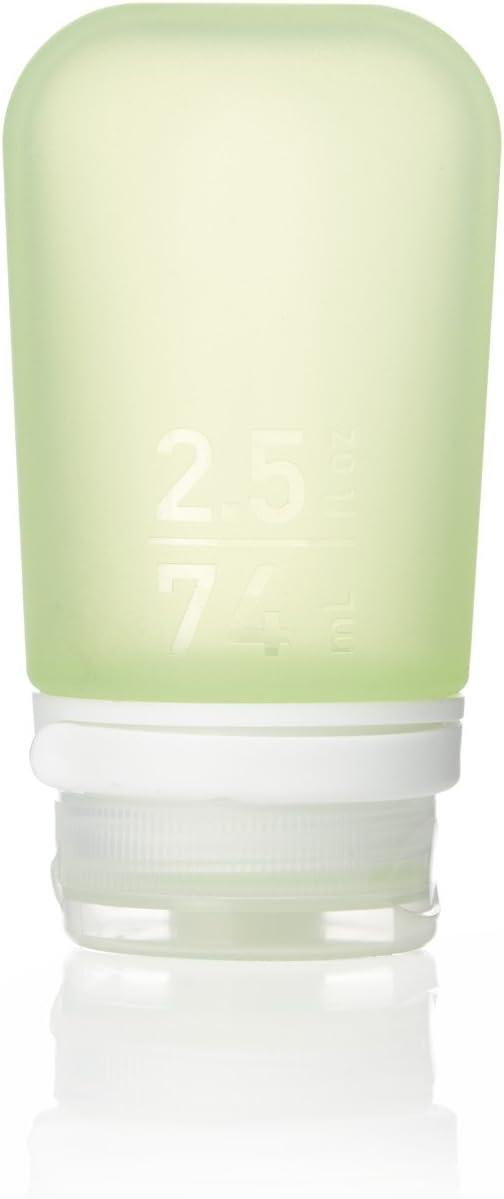 humangear GoToob+ Silicone Travel Bottle with Locking Cap, Medium (2.5oz), Green