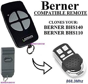 Berner bhs121/Kompatible Ersatz-Fernbedienung f/ür Garage Tor Automatisierung 868,3/MHz