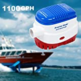 Amarine-made Automatic Submersible Boat Bilge Water Pump 12v 1100 gph Auto with Float Switch-n
