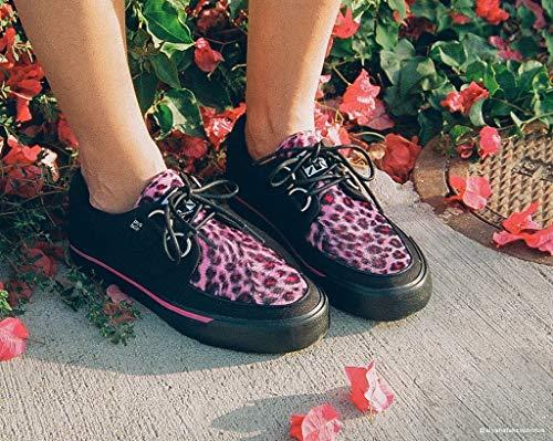 Shoes Noir u Vlk Féminines Rose Léopard T Sneaker Vamp k Creeper 8qwCdv