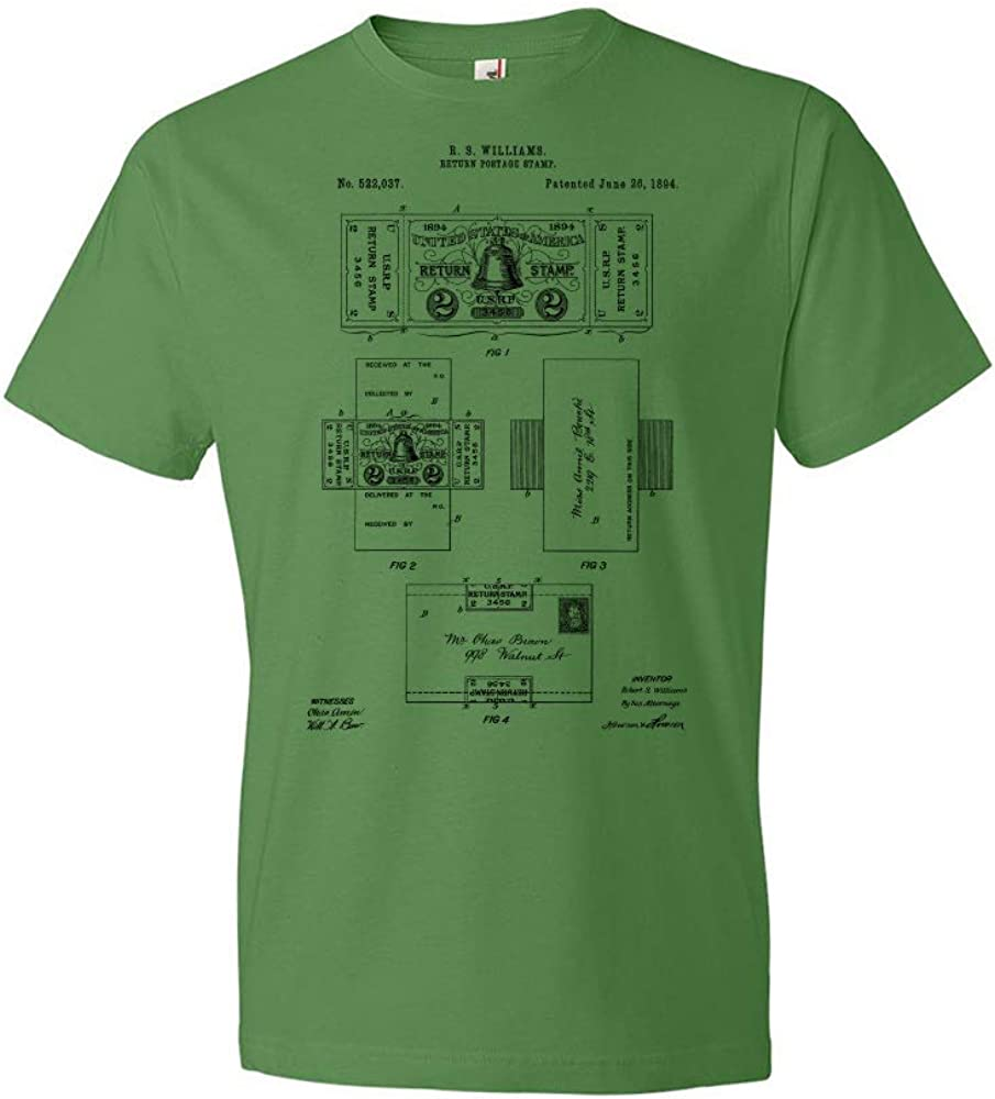 Mailroom Tee Mailman Gifts Patent Earth Return Postage Stamp T-Shirt Stamp Collector