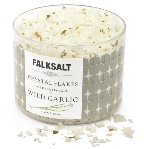 FALKSALT Wild Garlic Natural Sea Salt (Flakes) 4.4 oz