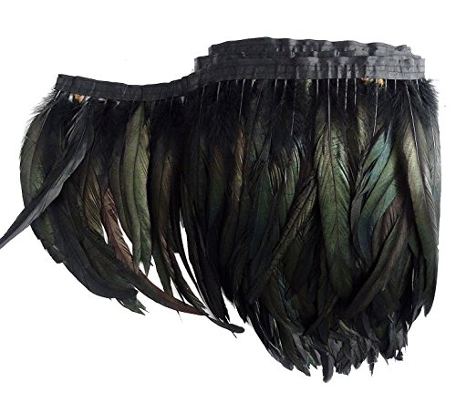 L'VOW Rooster Tail Feather Fringe Trim Boa 8-10