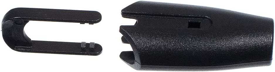 Cow Head Style Black Toggle Clip Plastic Cord Lock 5 Pack