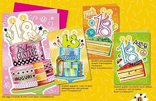 Tarjeta Felicitación cumpleaños una tarta para tus 18 anni1 ...