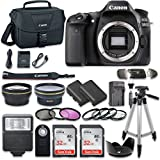 Canon EOS 80D Wi-Fi Full HD 1080P Digital SLR Camera (Body Only) with 2pc SanDisk 32GB Memory Cards + Accessory Kit