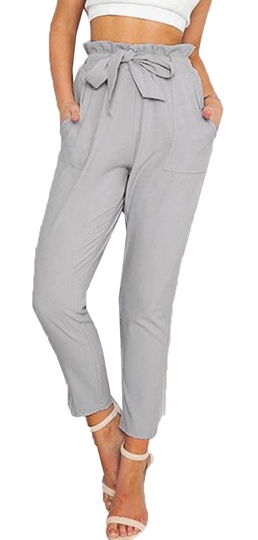 ASL Women's Fashion Solid Color Simplicity Harem Pants