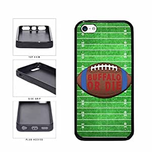 Buffalo or Die Football Field TPU RUBBER SILICONE Phone Case Back Cover Apple iPhone 5c