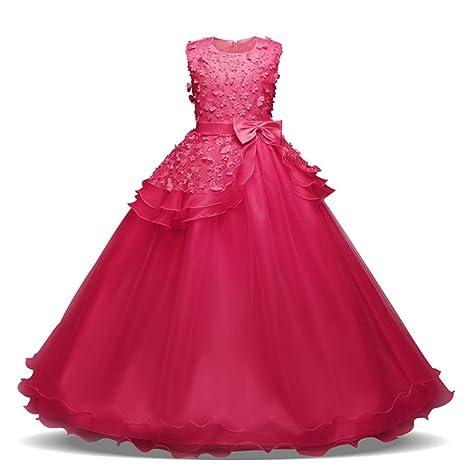 Jxth Vestido de Princesa Dama de Honor de Las niñas Vestidos ...