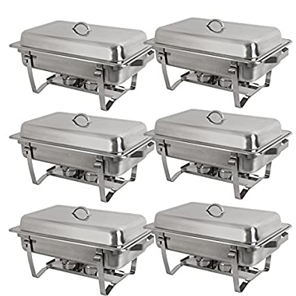 amazon com stainless steel chafing dish full size chafer dish rh amazon com