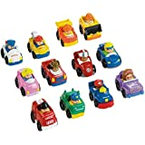 Fisher-Price Little People Wheelies Gift Set Bundle (12 Items)