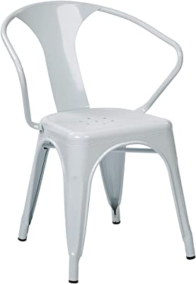 """Office Star 30"""" Metal Chair in White [Set of 2]"""