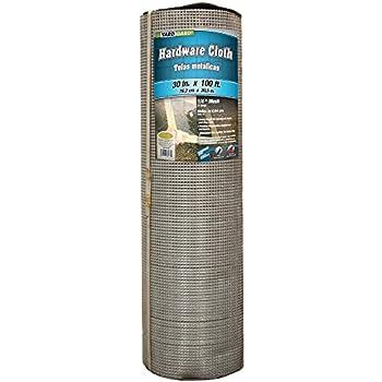 YARDGARD 308249B  23 Gauge 1/4 Inch Mesh 2.5 Foot x 100 Foot Galvanized Hardware Cloth