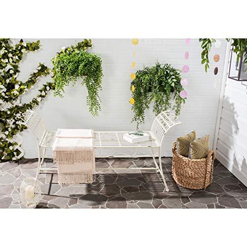Safavieh Outdoor Collection Hadley Antique White Bench