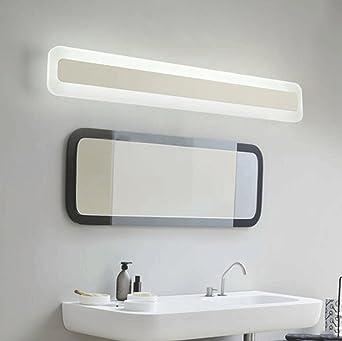 Lampes pour miroir Miroir éclairage avant salle de bain simple ...