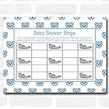 Boys Blue Teddys Baby Shower Games Bingo Cards
