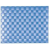 Saleen 01010178101 Placemats, Dishwasher Safe, Heat Resistant, Food Safe, Water Resistant- Navy Blue (Pack of 12)