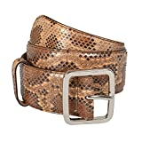Gucci Women's Python Skin Leather Belt US 28 IT 70